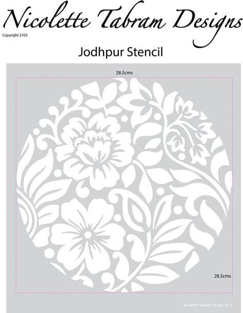 """Gelli Plate Flower Border 5/"""" X 7/"""" X Pochoir impression monochrome Mixed Media"""