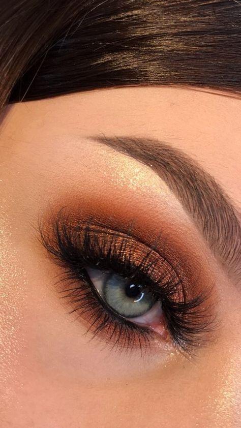 Fall Brown Eye Makeup Look Tutorial Idea