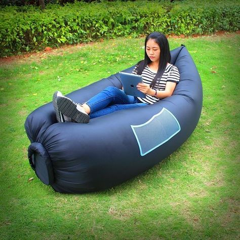 HappyCellR Inflatable Lounger Outdoor Hangout Bean Bag Chair Sofa For Camping Beach Couch Garden Cushion Pool Party Sleeping Air Bed Find