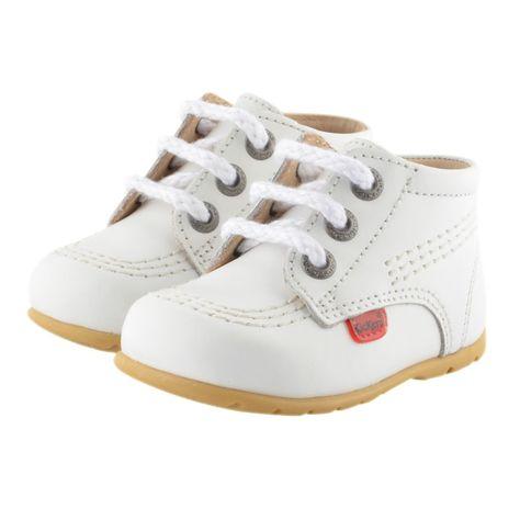 Kickers Baby AW16 White Boots KICK HI B