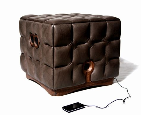 The Music Chocolate ottoman
