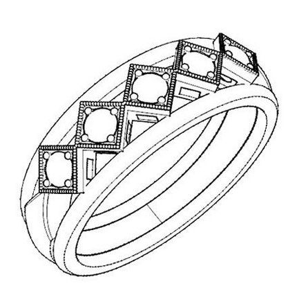 Elegant Wedding Ring Coloring And Sketch Drawing Page Elegant