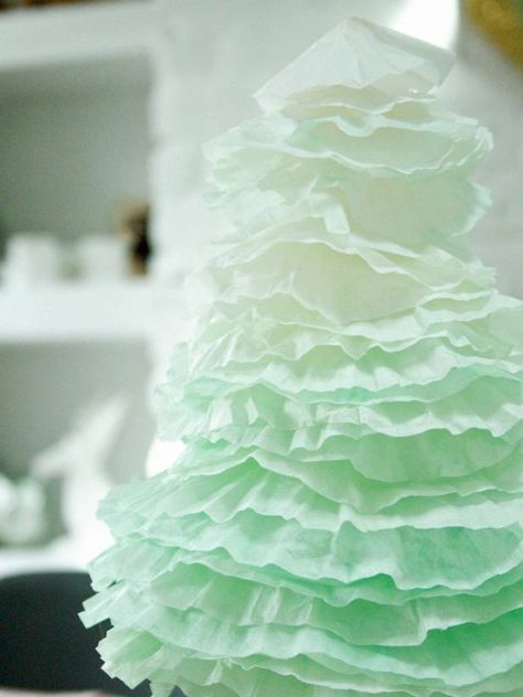 Easy Ombre Coffee Filter Christmas Trees Alternative Christmas