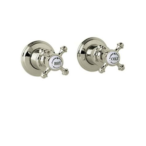 rohl u 3773x georgian era pair of 3 4 concealed wall valves with