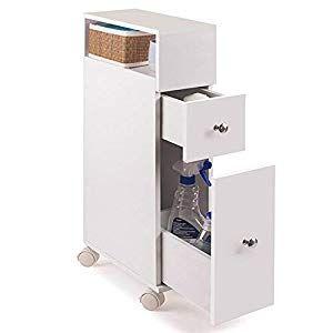 Sobuy Frg51 W Meuble De Rangement A Roulettes Wc Porte Papier Toilettes Porte Brosse Wc Armoire Roulante Locker Storage Filing Cabinet Furniture