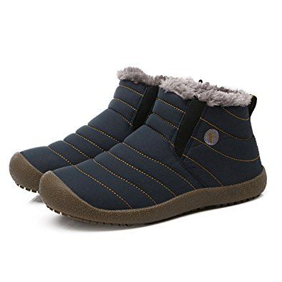 b7791eff88737 BADIER Mens Snow Boots Womens Winter Ultimate Warm Slippers Outdoor ...