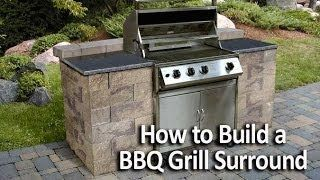 Allan Block Youtube How To Build A Bbq Grill Surround Outdoor Grill Station Outdoor Kitchen Plans Patio Grill