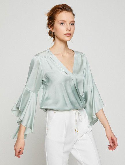 Nane Yesili Bir Bluz Modeli Mi Ariyorsunuz Koton Un Nane Yesili Bayan Kol Detayli Bluz Modelini Incelemek Ve Satin Almak Icin Hemen Bluz Kadin Bluz Modelleri