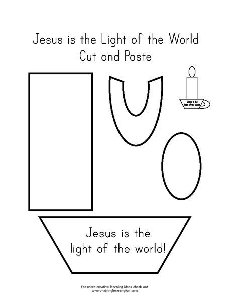 Jesus The Light Of The World Activity Sheet Fun Learning