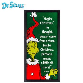 Dr Seuss The Grinch Quote Framed Wall Decor Hobby Lobby Christmas Christmas Quotes Grinch Grinch Quotes