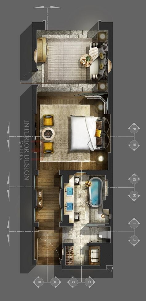 Master room with private bathroom and dressing master bedroom - plan d une belle maison