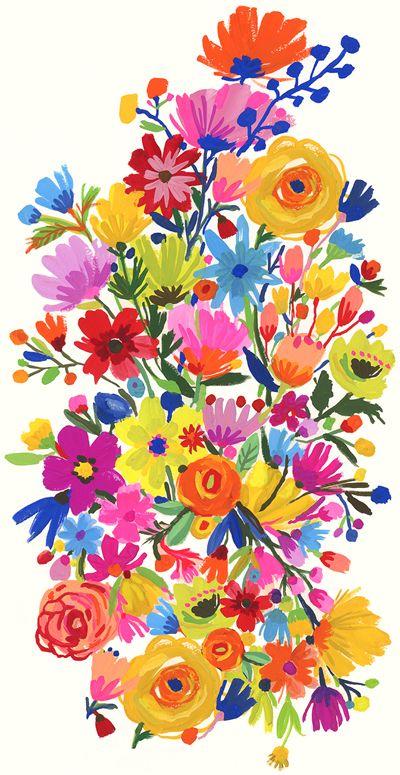 Beautiful floral illustration ❤