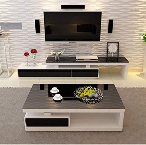 Super Zscf Nordic Living Room Glass Coffee Table Tv Cabinet Modern Fashion Black And Wh In 2021 Center Table Living Room Nordic Living Room Centre Table Living Room Living room table for tv