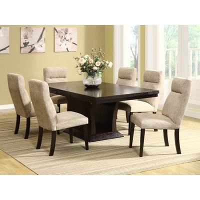 Brayden Studio Morency Side Chair Dining Room Furniture Sets Contemporary Dining Sets Pedestal Dining Table