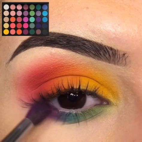 Colorful Eye Makeup Tutorials! -