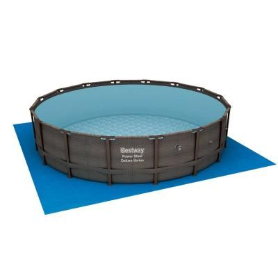 Bestway 14 Ft X 42 In Deep Power Steel Metal Frame Above Ground Swimming Pool Set With Pump 15123 Bw The Home Depot Cool Swimming Pools Swimming Pools Pool Cover Pump