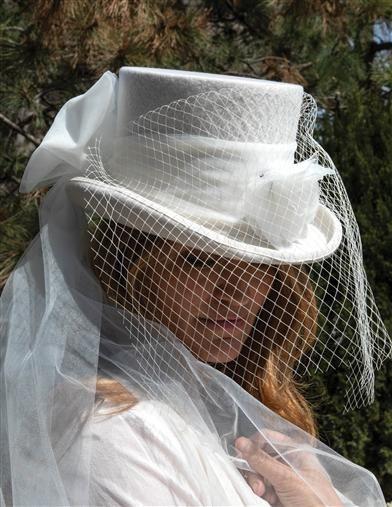 Bridal Equestrienne Top Hat Wedding Hats Victorian Hats Top