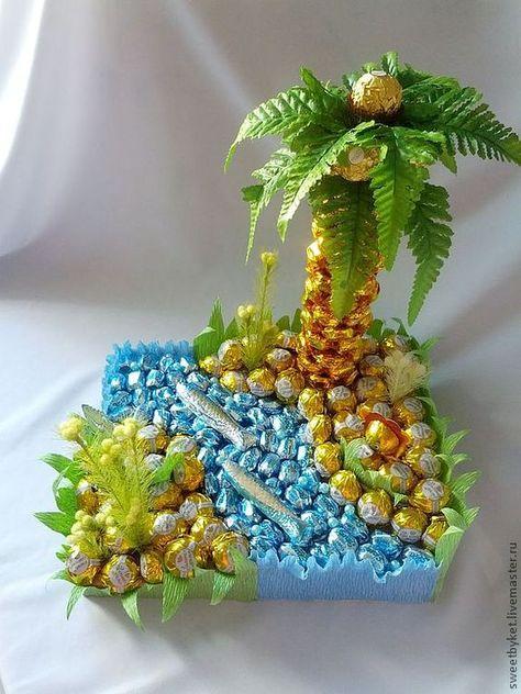 Незвичні способи подарувати солодощі до свят   Ідеї декору