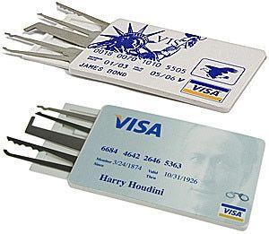 Credit Card Lock Pick Set Houdini Version In 2020 Lock Pick Set Survival Lock Picking Tools