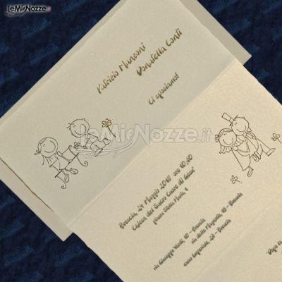 Partecipazioni Matrimonio Julia.Partecipazioni Con Sposini Disegnati Semplici Ed Originali