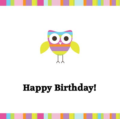 Printable Happy Birthday Cards I \u003c3 Owl Freebies Pinterest