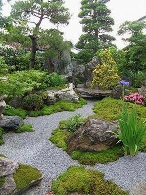 Japanese Garden Design Use Of Stones And Boulders Small Japanese Garden Small Japanese Garden Pond Japanese Garden