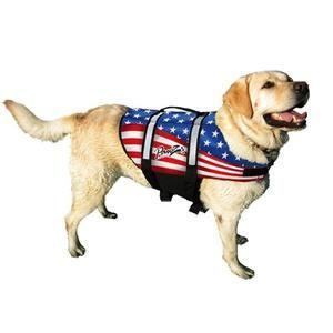Patriotic American Flag Pet Life Jacket Vest For Dogs Dog Life