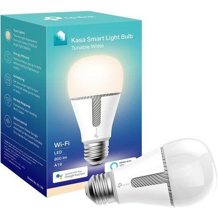 Tp Link Kasa Kl120 Smart Light Bulb 60w Led Tunable White 1 Pack Walmart Com In 2020 Smart Light Bulbs Light Bulb Smart Lighting