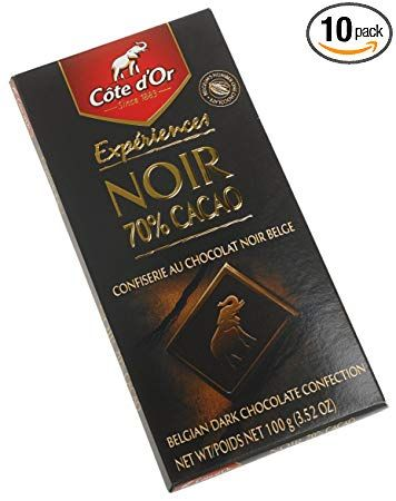 Cote D Or Dark 70 Intense Chocolate Cocoa 3 5 Ounce Bars Pack Of 10 Review Cocoa Chocolate Intense