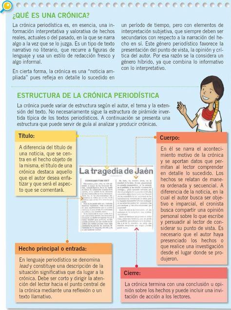 Estructura De Una Crónica Cronica Lenguaje Y La Narracion