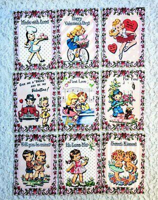 Set of 9 Cards~Easter Girls~Pocket Pen Pal Letter Kit~with Protector~#102N