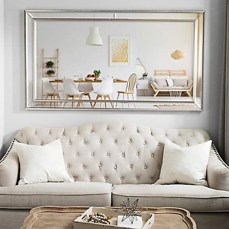 Large Silver Luxe Leaner Mirror 37 2x67 2 In Kirklands Living Room Mirrors Mirror Wall Living Room Mirror Dining Room