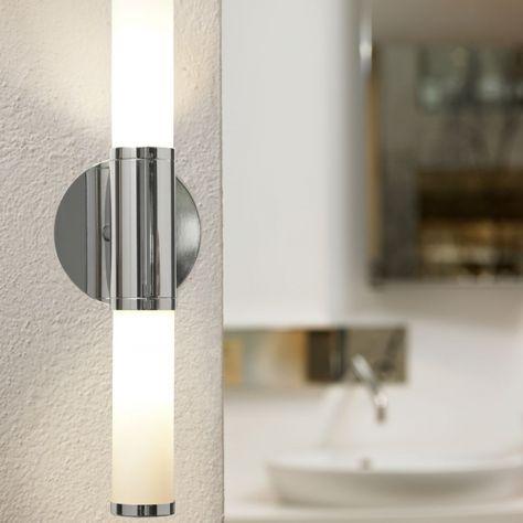 Wandleuchte Ip44 Chrom Weiss Wandleuchte Badezimmer Licht Und Wandlampen