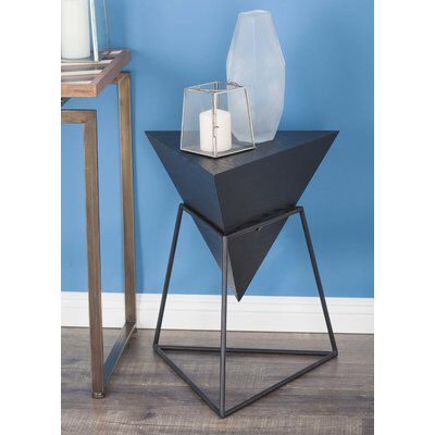 Wood Metal Triangle End Table Metal Table Base End Tables