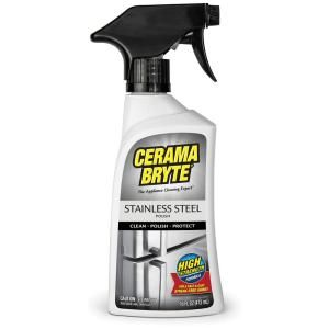 Cerama Bryte 16 Oz Stainless Steel Cleaning Polish And Conditioner Pm10x311 The Home Depot Stainless Steel Cleaning Surface Cleaner Range Hood