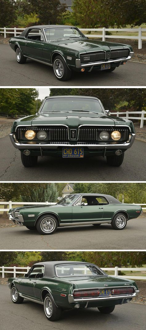 1968 Mercury Cougar XR7 powered by a 302ci V8 #Fordclassiccars