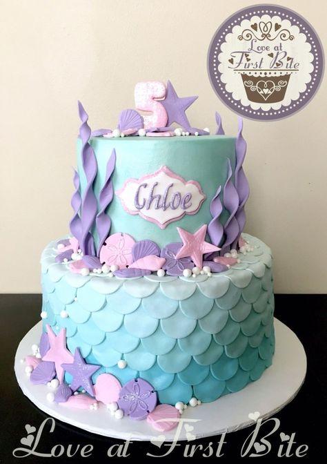 27+ Exclusive Image of Mermaid Birthday Cake . Mermaid Birthday Cake Under The Sea Mermaid Cake Childrens Birthday Cakes In 2019  #BirthdayCakeIdeas