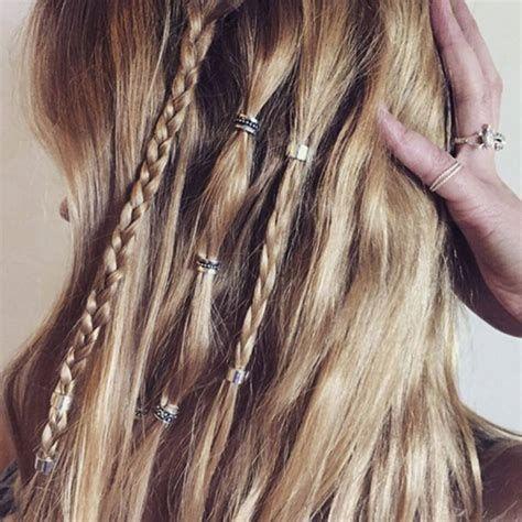 Bohemian Hair Beads Beading Pearlerbeads Ideas In 2020 Hair Styles Boho Hairstyles Hippie Hair