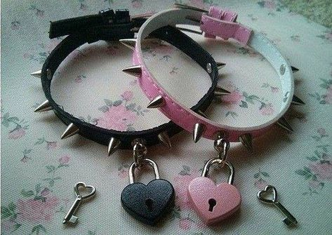 Shop for bdsm on Etsy, the place to express your creativity through the buying and selling of handmade and vintage goods. Pastel Goth Outfits, Pastel Goth Fashion, Gothic Outfits, Emo Outfits, Heart Choker, Heart Locket, Locket Necklace, Collar Necklace, Gothic Jewelry