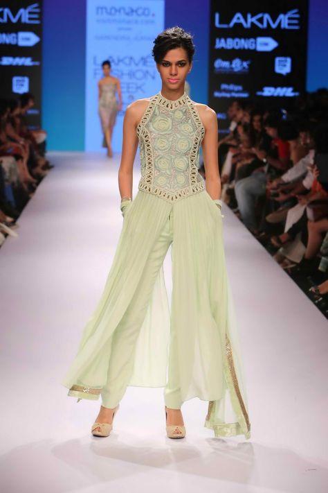 [ Lfw Winter Cream Palazzo Pants Dress Indian Wedding Outfits Girls ] - Best Free Home Design Idea & Inspiration