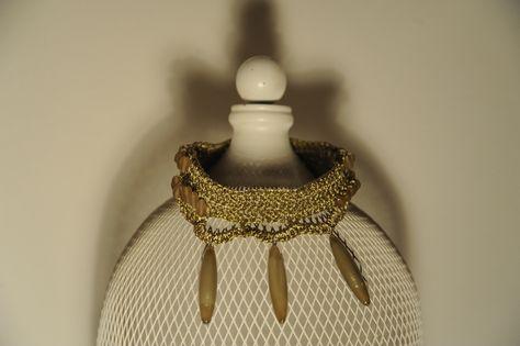 collarino SAKI - cod. 02 - au crochet neckband SAKI - au crochet http://www.lacortevenezia.it/