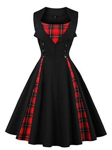 Killreal Women's 1950s Style Retro Vintage Rockabilly Dre... https ...