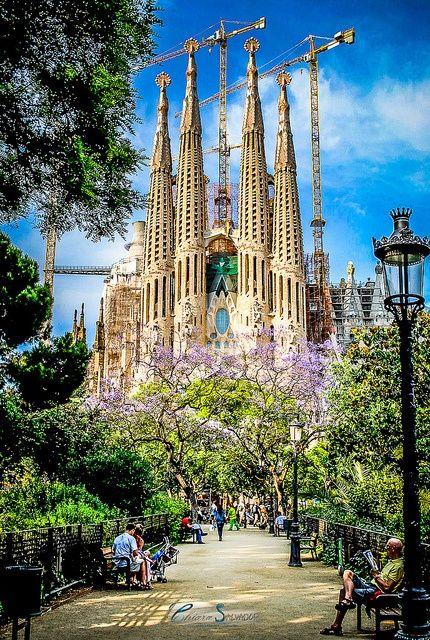 Sagrada Familia, Barcelona, Spain #tours4fun #europe #spain #Antoni Gaudí