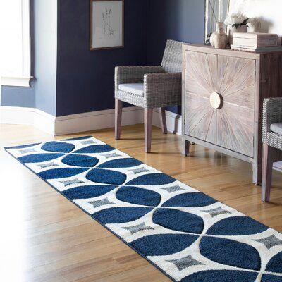 Langley Street Jamar Geometric Handmade Tufted Jute Navy Blue Area Rug Blue Gray Area Rug Navy Blue And Grey Living Room Navy Blue Area Rug