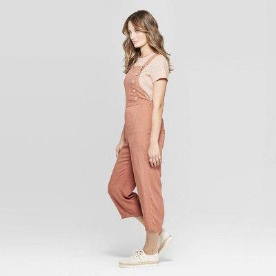 Women's Sleeveless Button Detail Wide Leg Jumpsuit
