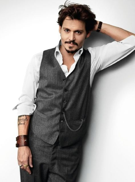 Johnny Depp in Grey Casual Wai... is listed (or ranked) 2 on the list Hot Johnny Depp Photos