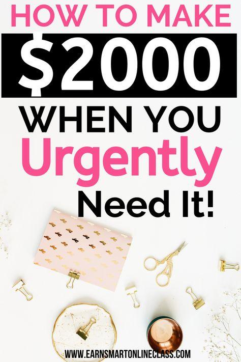 I Need Money Now: 19 Quick Ways to Make Money Today