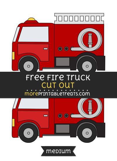 photo about Fire Truck Template Printable called No cost Fireplace Truck Slash Out - Medium Sizing Printable No cost