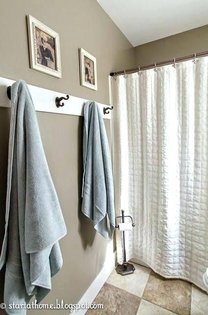 Towel Holder Ideas Small Bathroom Towel Rack Ideas Small Bathroom Towel Rack Ideas Small Bathr In 2020 Hang Towels In Bathroom Bathroom Towel Decor Towel Rack Bathroom
