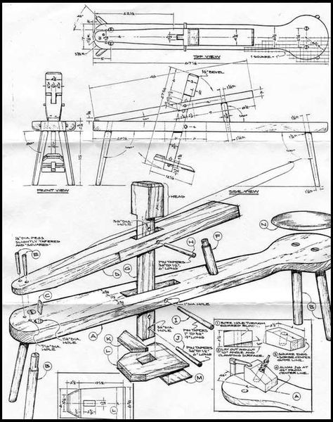 shaving horse - Szukaj w Antique Woodworking Tools, Green Woodworking, Antique Tools, Old Tools, Vintage Tools, Woodworking Bench, Woodworking Shop, Woodworking Projects, Woodworking Images